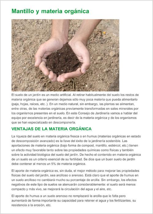 Mantillo y materia organica-1