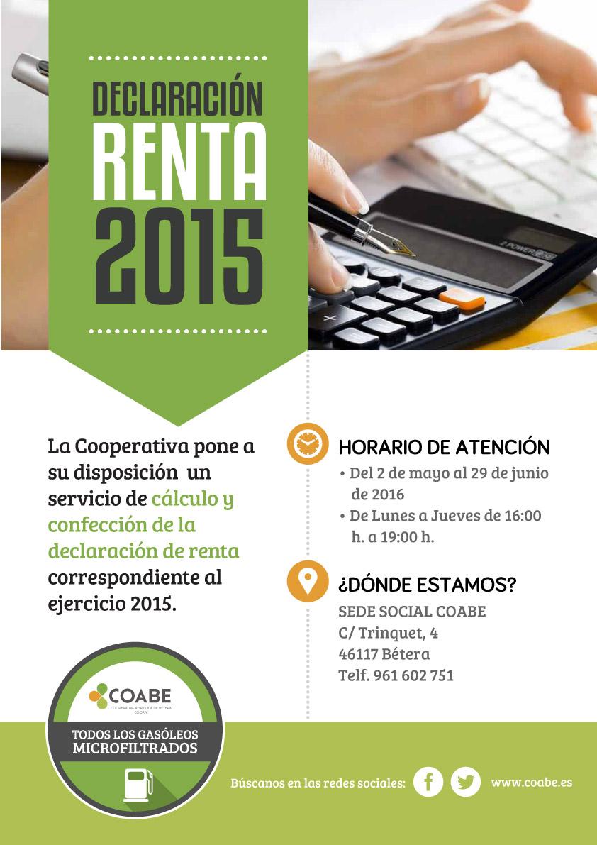 Cartel renta 2015